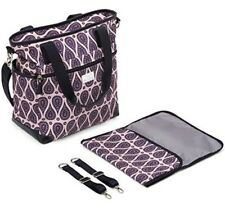 Purple Paisley Diaper Bag Large Capacity With Changing Pad & Stroller Straps