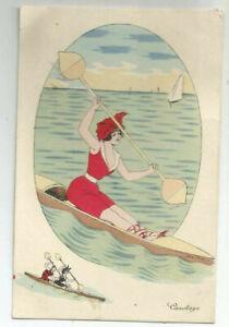 Xavier Sager: Canotage. Carte Postale. Canoë Boot Ruderboot Kanu Paddel 539