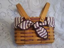 Longaberger 1998 Purple Picture Perfect Sweetheart Basket liner + protector Vguc