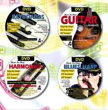 Download ONLY, (4x Video & 4x E-Books) Guitar, Harmonica, Piano & Blues Harp
