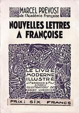 Nouvelles Lettres à Françoise - Marcel Prévost - Eds. J. Ferenczi  - 1932