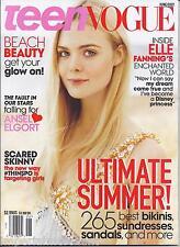 Teen Vogue magazine Elle Fanning Beach beauty Bikinis Sundresses Ansel Elgort