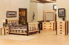 Rustic Pine 5 PC log Furniture set Bed Cedar Dresser Ranch Series suite