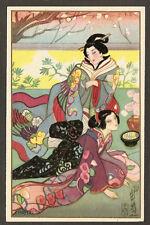 POSTCARD:  2 JAPANESE GEISHA GIRLS OUTSIDE by SOFIA CHIOSTRI, Series 290, Unused
