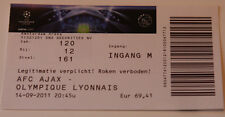 OLD TICKET CL Ajax Amsterdam Holland Netherlands Olympique Lyon France