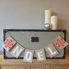 Christmas Noel Bunting Banner Hessian Burlap