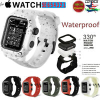 Waterproof Tactical Rugged For Apple Watch Band&Case Series 1 2 3 4 5 6 42/44mm