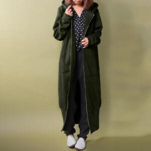 ZANZEA Women Winter Warm Sweater Cardigan Overcoat Casual Loose Tops Outwear NEW