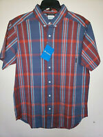 Mens Columbia Rapid Rivers Short Sleeve Button Up Plaid Shirt New Size Medium M