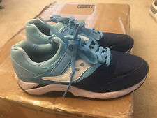 SAUCONY GRID MENS SHOES SIZE 10 LIGHT BLUE NAVY BLUE WHITE LOW TOP