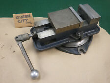 """Eron 4"""" mill/milling/machinist vise D40 style with handle and swivel base"""