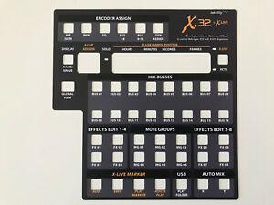 Overlay für Behringer X-Touch zur Steuerung von Behringer X32 mit X-Live Card