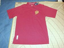 Mens Medium Burgandy Red Espn-U Isu Cyclones Polo Shirt - Nwt