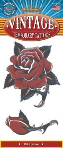 1940 Rose Vintage Temporary Tattoo FX Costume Accessory NEW 40s