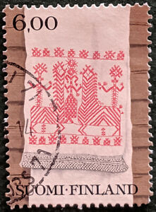 Stamp Finland SG898 1980 6Mk Weaving Used