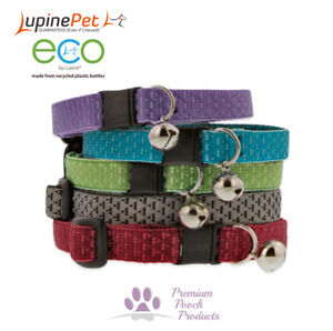 Lupine Cat Collar 12mm Wide ECO Friendly Webbing - Colours Inspired by Nature