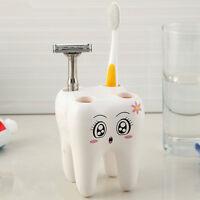1Pc 4 Hole Cartoon Teeth Style Toothbrush Holder Bracket Bathroom Accessories