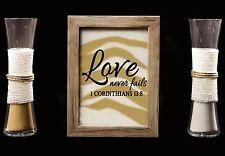 Rustic Barn Wood Wedding Sand Ceremony Frame Set-Love Never Fails