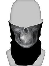 WHITE GRIM REAPER SKULL SNOOD NECKTUBE NECKWARMER FACE MASK BIKER PAINTBALLING