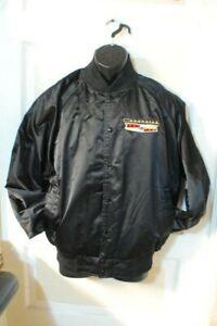 Vintage Men's Chevrolet Satin Jacket Size Large - Free Shipping