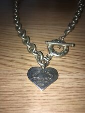 Tiffany & Co Heart Tag Toggle Necklace Sterling Silver RRP £535.00