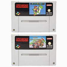 SNES - Super Mario World + Super Mario Kart - Spiel für Super Nintendo