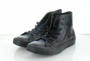 45-64 NEW $65 Men's Sz 5.5 Converse All Star Leather high-Top Sneakers - BLK