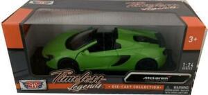 McLaren 650S Spider in green 1:24 scale model from motormax, timeless legends
