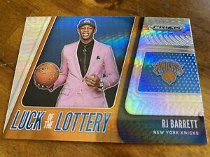 RJ Barrett 2019-20 Panini Prizm Luck Of The Lottery Hyper SP #3 Rookie NY Knicks