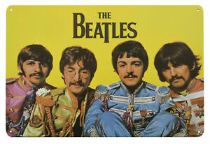 The Beatles SGT PEPPERS Metal Wall Sign Steel Plaque Bar Gift (20cm x 30cm)
