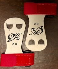 Was $15.99 Nwt Gk Elite Gymnastics Hand Grips With Straps Gk32 Red Size Xs