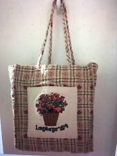 Longaberger Purse Homestead Basket Of Floral Bouquet Tote Handbag Good Clean Con