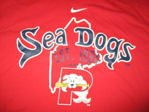 Nike PORTLAND SEA DOGS Minor League Baseball Est 1994 (XL) T-Shirt