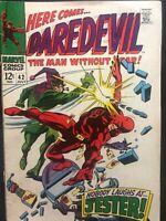 Daredevil #42 1st App Of Jester . Key Issue. Marvel Comics