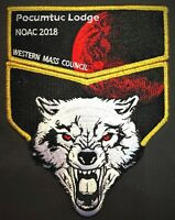 POCUMTUC OA LODGE 83 BSA NOAC 2018 BLOOD MOON WOLF GMY DELEGATE 2-PATCH 80 MADE!