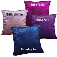 Mn - Fuschia Blue Purple Crushed Crinkle Velvet Pillow Case/Cushion Cover*Custom