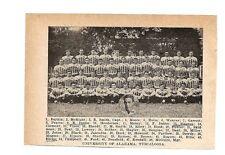 Alabama Crimson Tide University Virginia Tech Hokies 1928 Football Team Picture