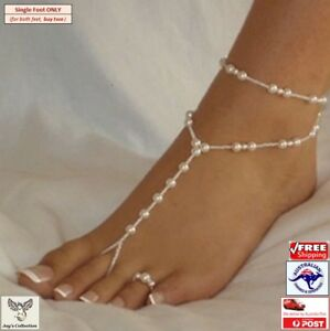 Anklet Bracelet Beach Imitation Pearl Barefoot Sandal Foot Jewelry [A2L2~D4]