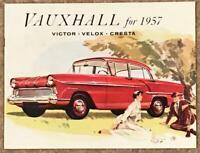 VAUXHALL Car Sales Brochure APRIL 1957 #D4716-4/57 CANADIAN Victor VELOX Cresta