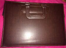 Vintage Hardcase Brown Business Briefcase Travel Work Case File Leather