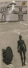"SHADOW GREY FEMALE BLANK Boss Fight Studios 4"" Inch Bagged ACTION FIGURE"