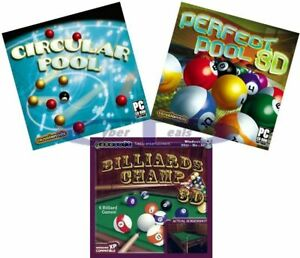 Pool & Billiards Games PC Windows XP Vista 7 8 10 New Factory Sealed