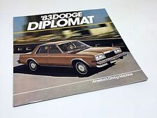 1983 Dodge Diplomat Brochure USA