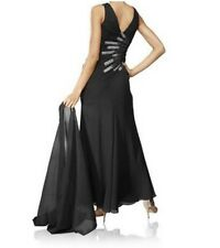 Evening Dress Heine Full Length Black With Scarf Size 34 36 38 40 42 New