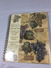 Style & Paper French Spiral Wine Book 120 Pages Register Book Of Wines