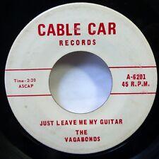 VAGABONDS 45 I Wonder /Just leave me my guitar CABLE CAR jazzy popcorn bop d1844