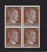MNH  Adolph Hitler stamp block, 1941, PF03, Original Third Reich Germany Block