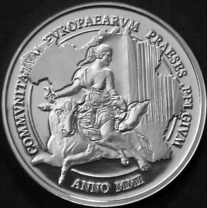 Belgium 500 francs Silver Proof 2001 Human Rights - Europa on Bull
