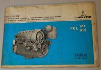 Catálogo de Piezas / Lista Deutz Motor F6L 911/F6L 912 Soporte 10/1970