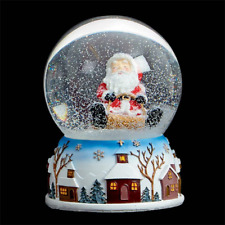 Christmas - Musical Snow Globe - 10cm - Santa CLEARANCE Damaged Box / Unboxed